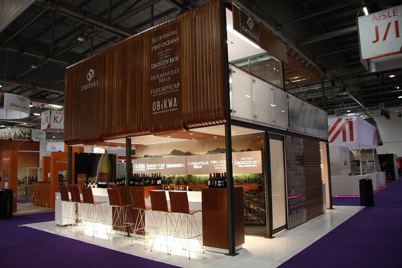 Exhibition Stand Fitter Jobs London : Distell double storey exhibit at london wine xzibit i