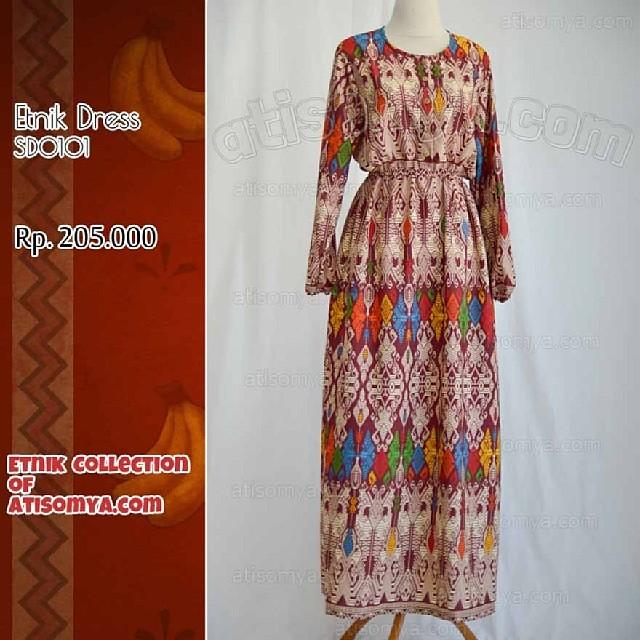 Lengan Panjang Baju Dress