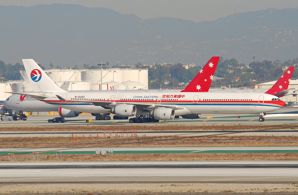 China eastern airlines airbus a340 600 b 6052 lax - China eastern airlines sydney office ...