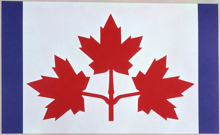 how to draw the leaf on the canadian flag