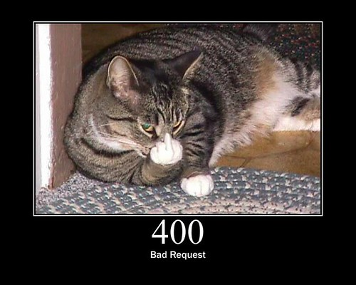 400 - Bad Request | by GirlieMac
