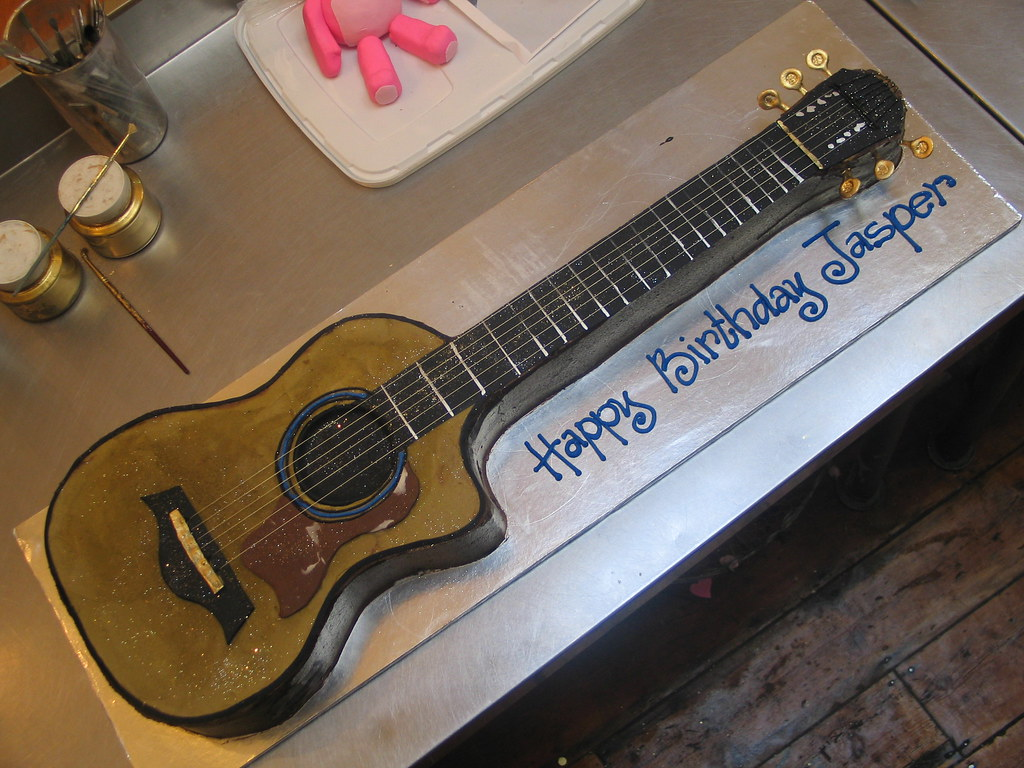3d acoustic guitar shaped wicked chocolate cake charly 39 s bakery flickr. Black Bedroom Furniture Sets. Home Design Ideas