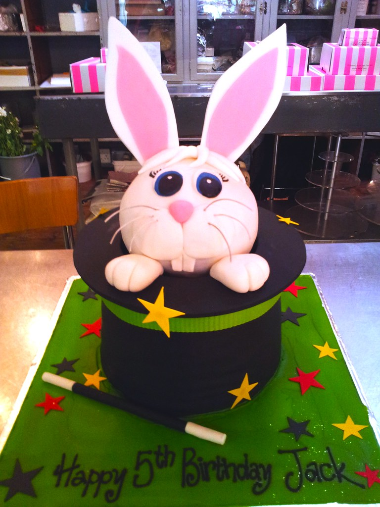 Easter Bunny Shaped Cake