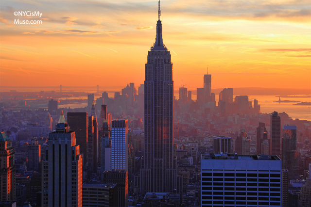 empire state building sunset - photo #15