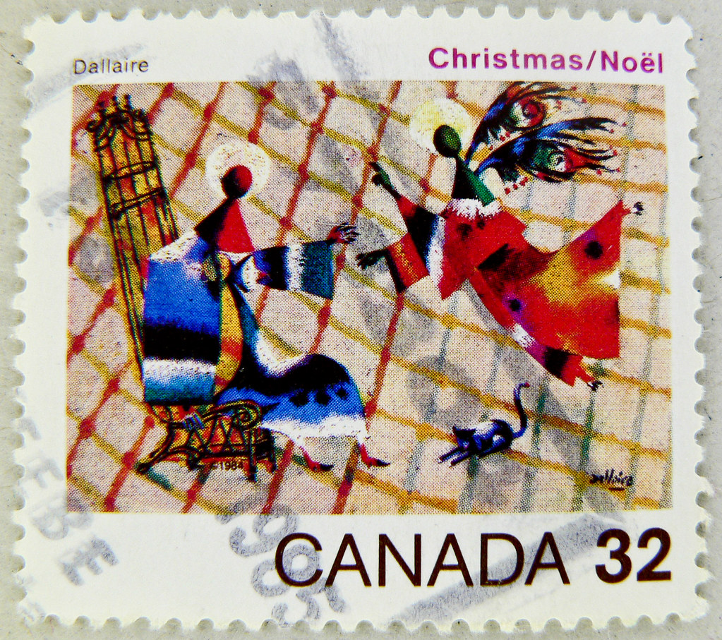 xmas stamp canada 32c christmas noel postes timbre noel an