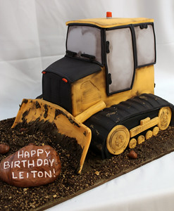 Heavy Equipment Birthday Cakes