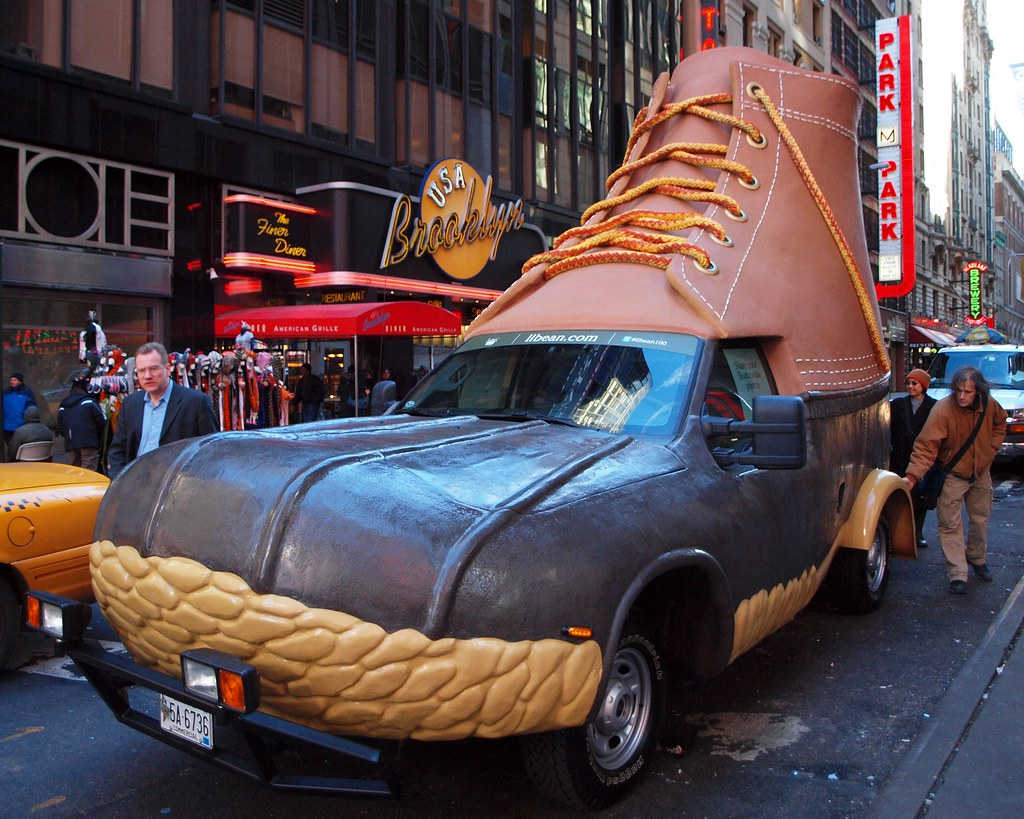 All Car Company >> L.L. Bean Bootmobile Hunting Boot Car, Times Square, New Y… | Flickr