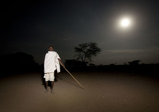 Gadaa ceremony under full moon, in Karrayyu tribe - Ethiopia | by Eric Lafforgue