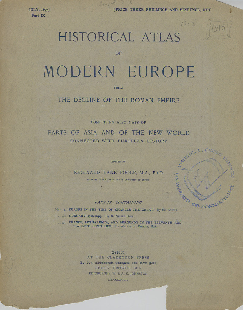 Title page from Part IX of Historical atlas of modern Euro…  Flickr
