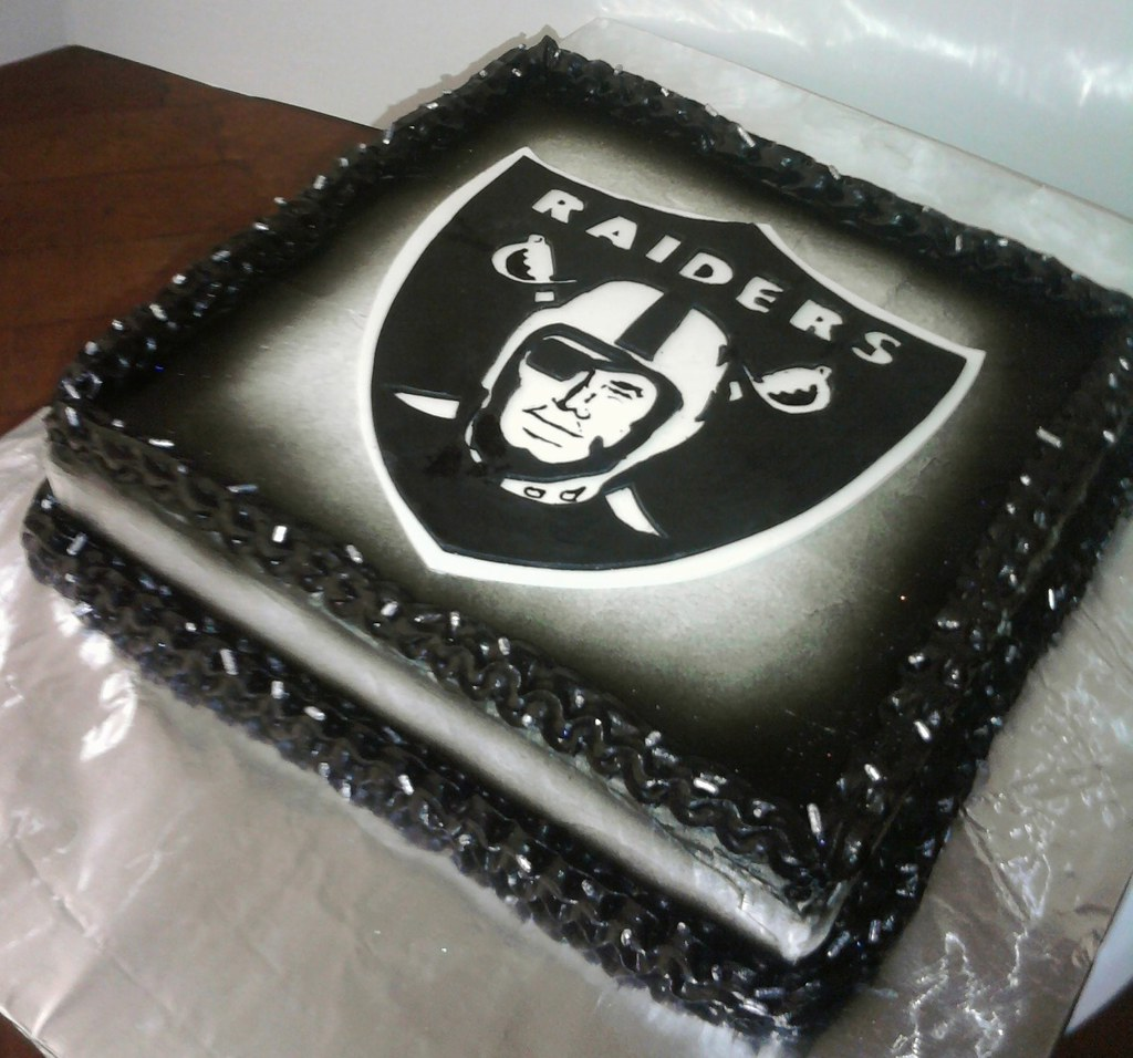 Raider Birthday Cake Raiders Bday Cake | by