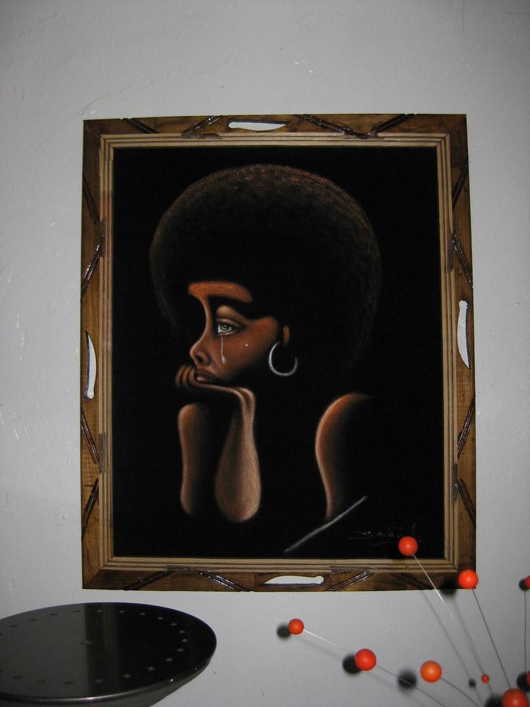 Black Velvet Painting 70s Our Thrift Apt Flickr