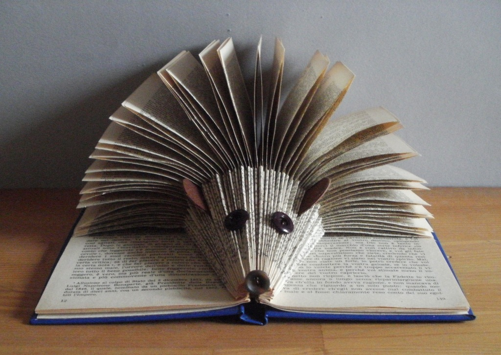 How To Make A Book Hedgehog : Folded hedgehog book copyright clara maffei flickr