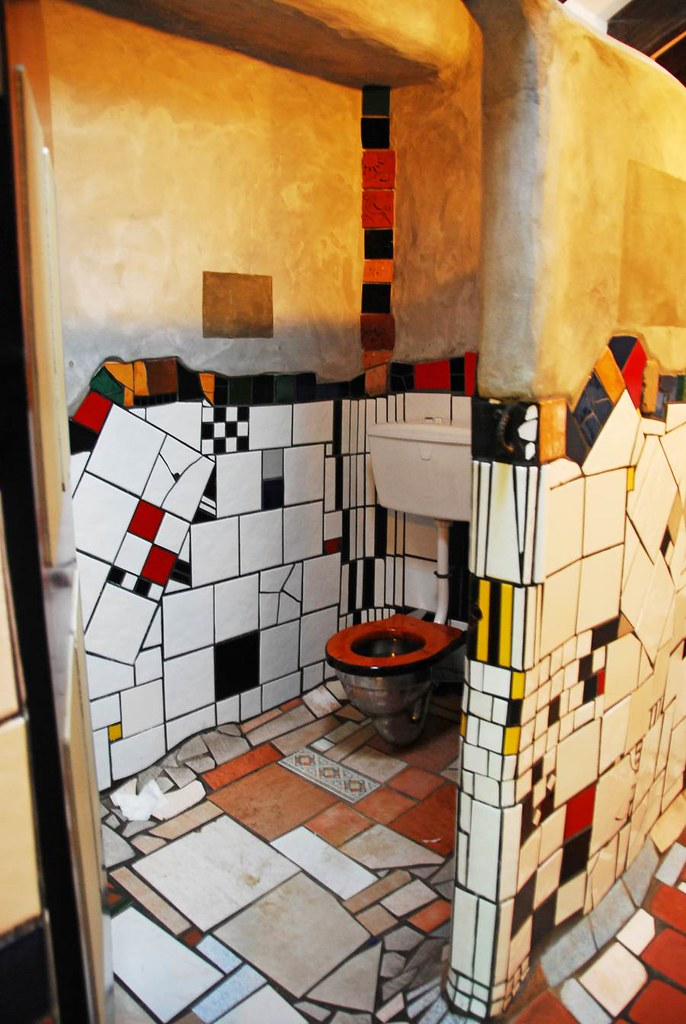 Kawakawa public toilet inside the main tourist attraction flickr Bathroom tiles ideas nz