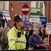 """#strike #n30 """" Physios Standing Up for our Pensions """" : Protest March turning into Cheapside from Fishergate Preston :"""
