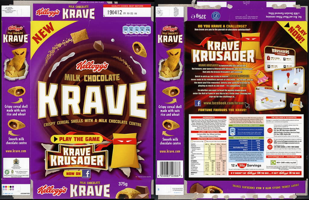 Uk Kellogg S Krave Milk Chocolate Flavor New Cer