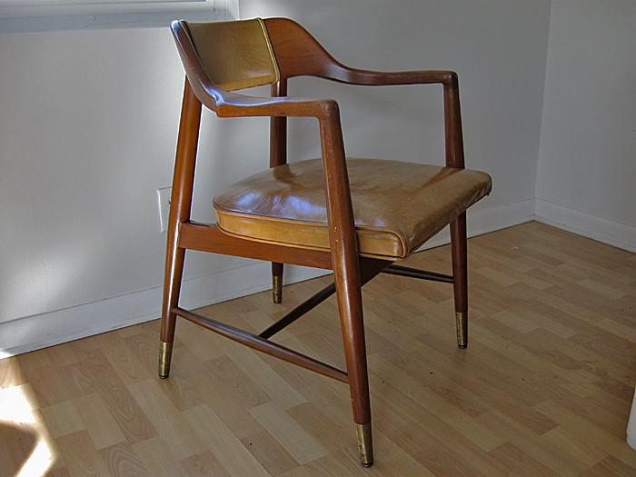 Mid Century Leather Dining Room Chairs