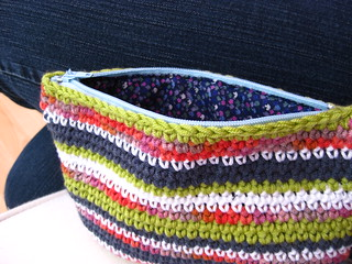 Crochet cotton zipped pouch | by bunny mummy