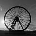 Wellington Pit Wheel B&W