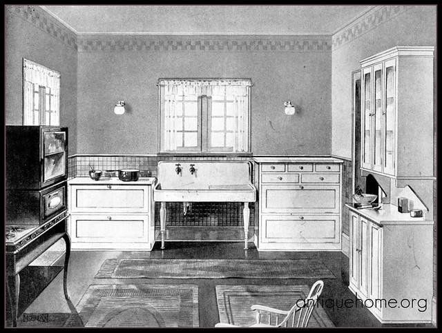 1920 39 s modern kitchen flickr photo sharing for Modern 1920 s kitchen