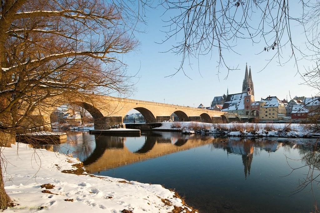 Winterliches Regensburg / Winter in Ratisbona