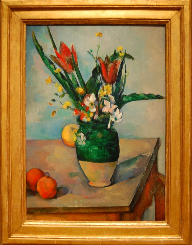 Paul C 233 Zanne French 1839 1906 The Vase Of Tulips C 18 Flickr
