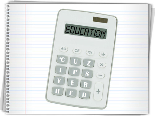 Education Calculator on Notebook | by nniknak