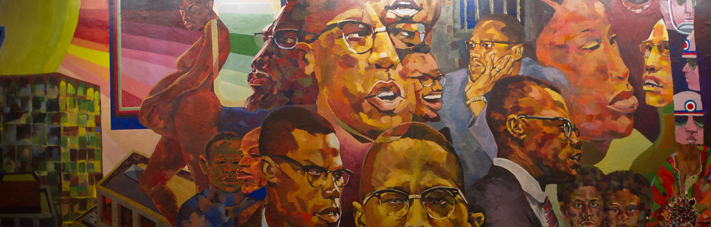 Malcolm x mural in cutter shabazz this mural on display for Malcolm x mural