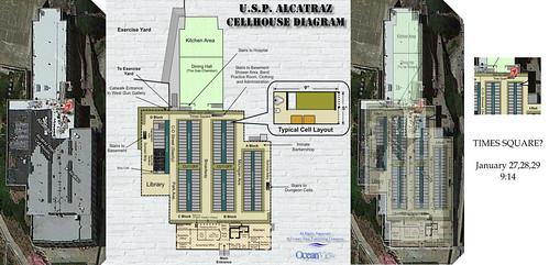 Alcatraz prison map overlay with coordinates   Flickr