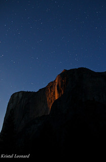 Horsetail Fall by moonlight | by Kristal Leonard