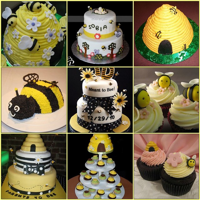 bee baby shower cakes some fun bee cake finds on flickr
