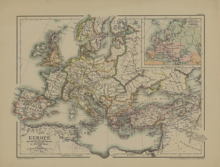 Map Page of Section V Europe in the time of Otto the Great from Part XIII of Historical atlas of modern Europe from the decline of the Roman empire : comprising also maps of parts of Asia and of the New world connected with European history | by uconnlibrariesmagic