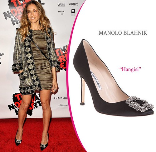 manolo blahnik satin pumps