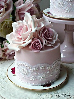 Roses and Lace | by Leslea Matsis Cakes