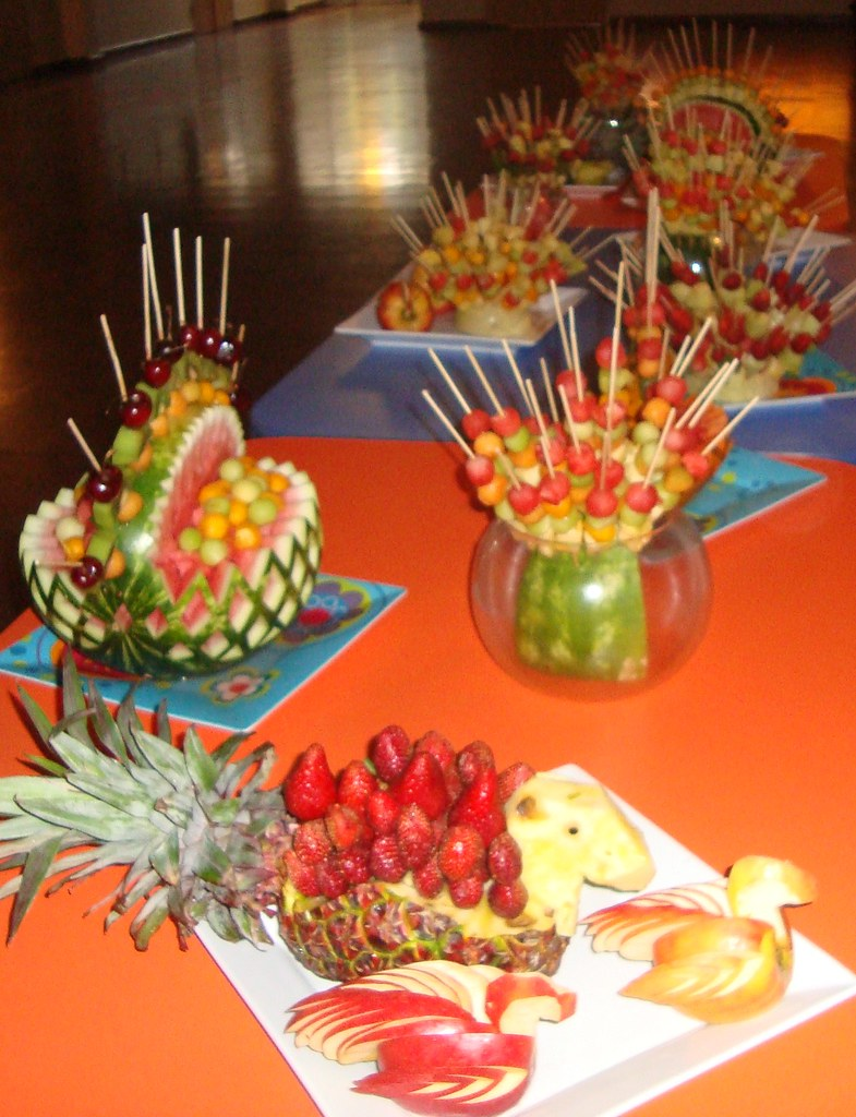 Brocheta de frutas for Como secar frutas para decoracion