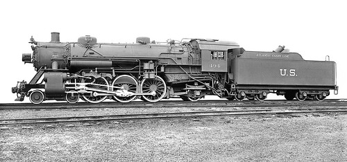 Atlantic Coast Line 4 6 2 Usra Light Pacific Steam Locomot