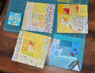 scrap blocks, tiny 9-patch | by vickivictoria