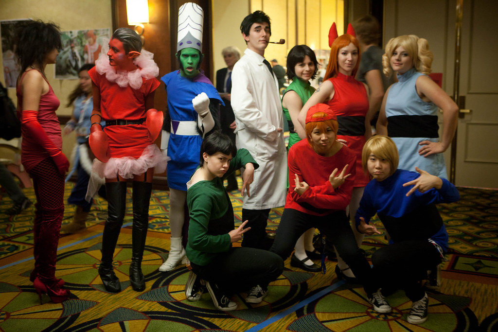 Powerpuff Girls Cast  From The Left I Dont Know, Him -6979