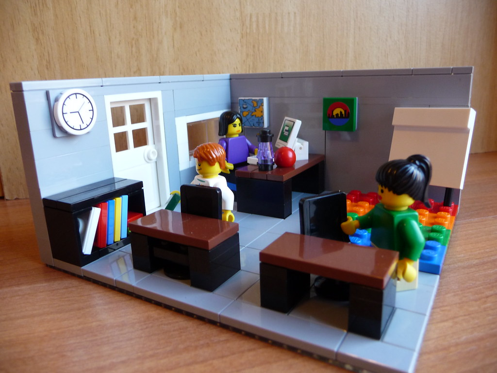 Lego Classroom 1 Lego Moc Of Madi S First Grade