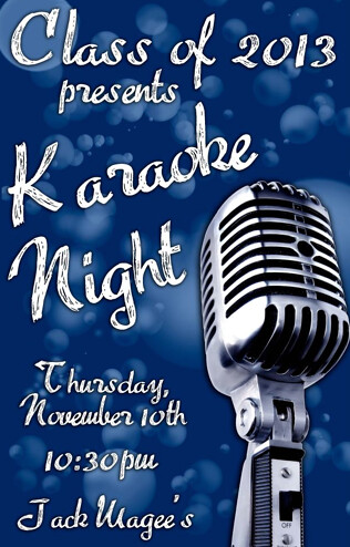 Karaoke Night Poster 2011 Alex Pigott Flickr