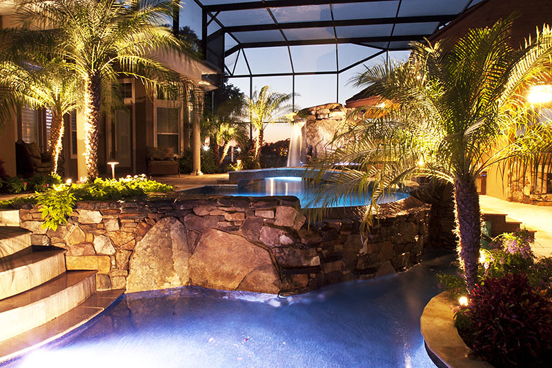 Landscape Lighting Sarasota : Outdoor landscape pool lighting sarasota bradenton florida