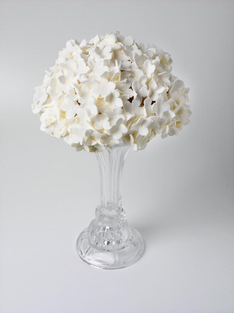 Hydrangea cupcake table centerpiece wedding designs in