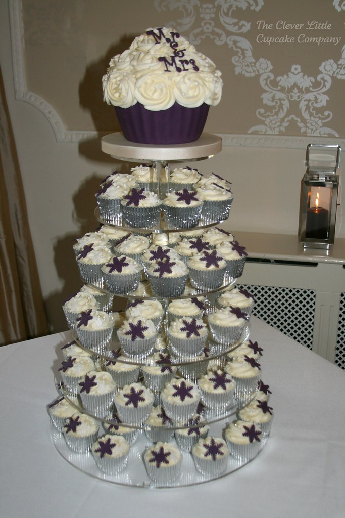wedding cake cupcake pan purple cupcake wedding tower purple snowflake 8603