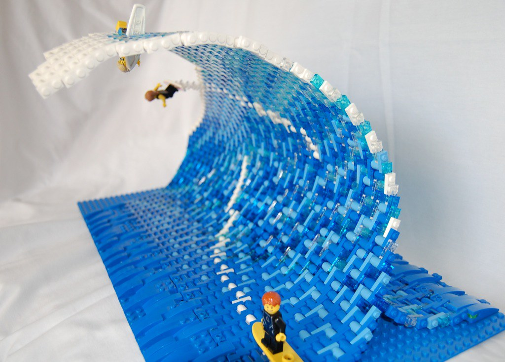Surfing Wave I Had Seen A Small Lego Wave And Decided I