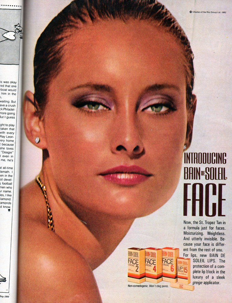 bain de soleil face seventeen magazine may 1982 this. Black Bedroom Furniture Sets. Home Design Ideas