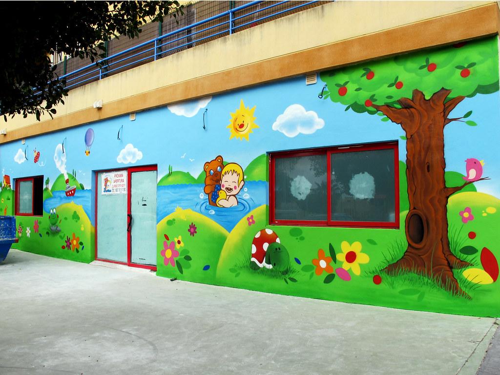Escuela infantil mis mu ecos torremolinos pinchar en for Pintar murales en paredes exteriores