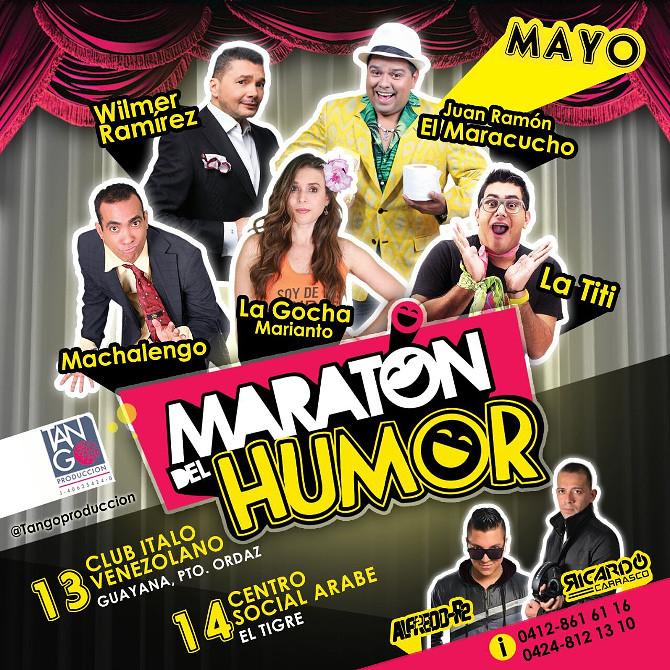 """""""Maratón del Humor"""" llega a Guayana"""