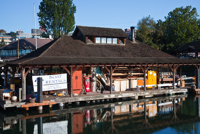 Center for wooden boats rentals