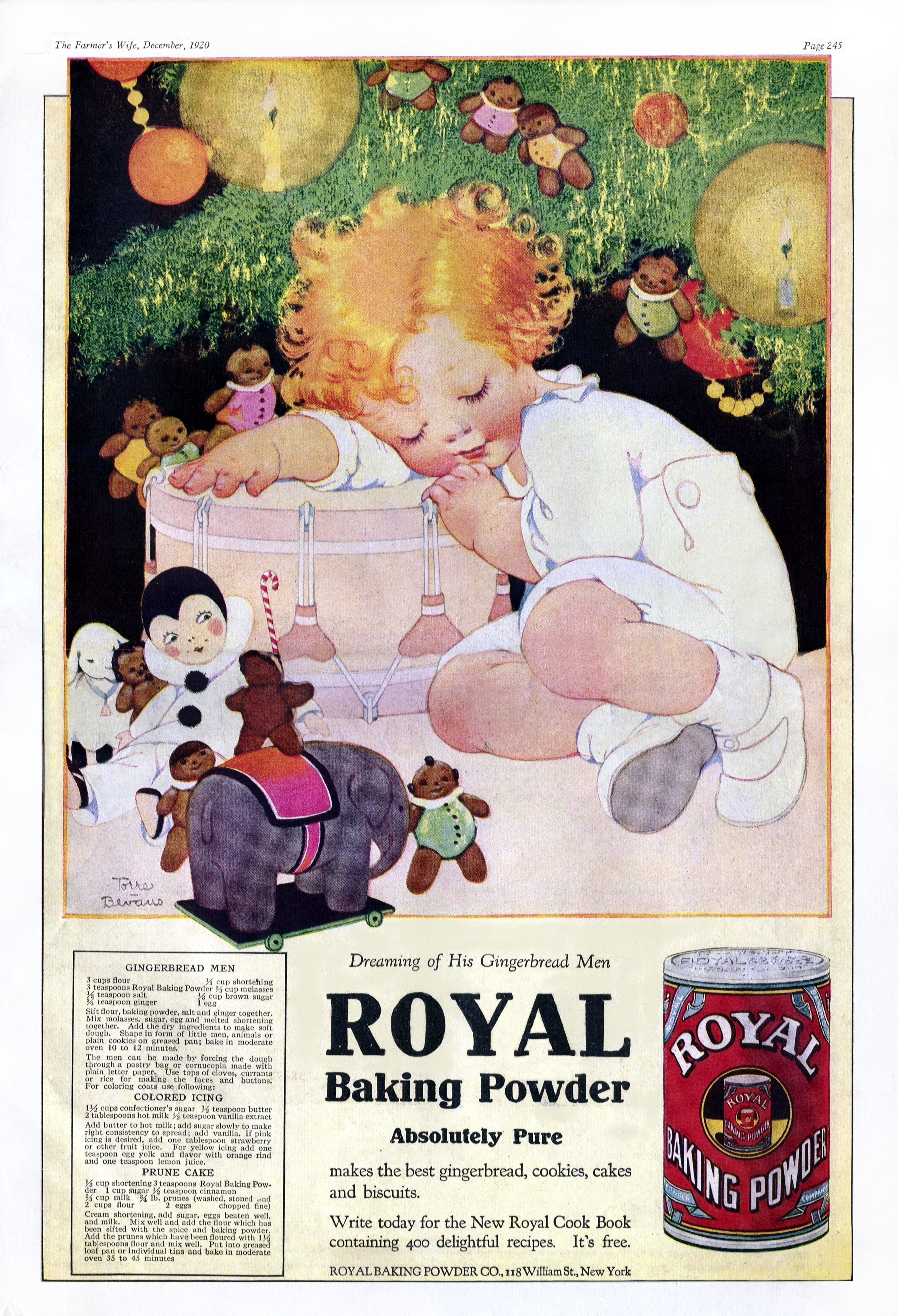 Royal Baking Powder - published in The Farmer's Wife - December 1920