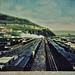 Corning NY  RR Yards   post card