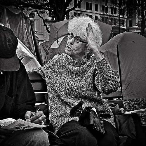 "A Retired DC Teacher, ""Drug Laws Do Nothing But Destroy Lives"", Occupy DC, McPherson Square, Washington, DC 